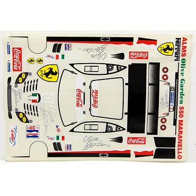 JK-71132ST 1/24 Decal Sheet - Ferrari 550 Maranello #0 Coca-Cola