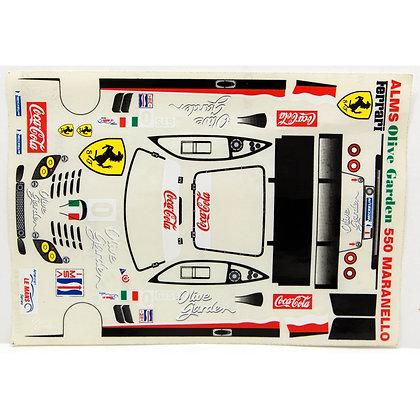 JK 71132ST 1/24 Decal Sheet - Ferrari 550 Maranello #0 Coca-Cola