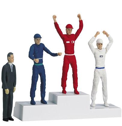 CARRERA 21121 Winners Podium Set with 4 Figures