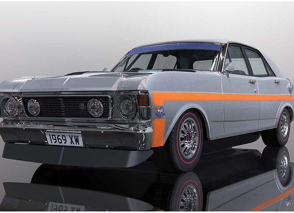 SCALEXTRIC-C4037 Ford XW GTHO Falcon - Silver Fox