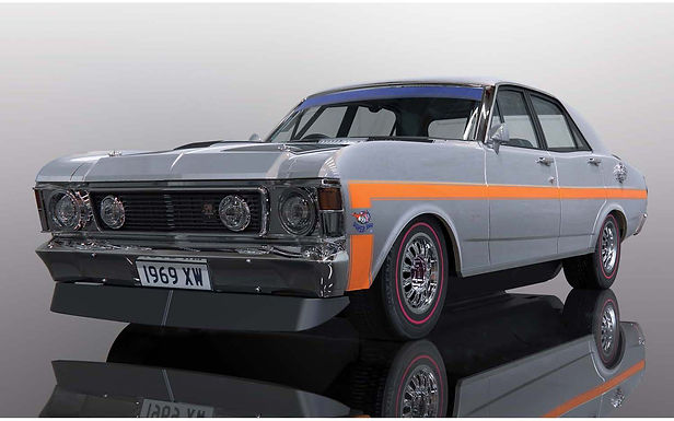 SCALEXTRIC-C4037 Ford XW GTHO Falcon - Silver Fox