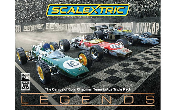 SCALEXTRIC Future Release C4184A THE GENIUS OF COLIN CHAPMAN - LOTUS F1 TRIPLE