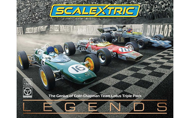 SCALEXTRIC-Future Release C4184A The genius of Colin Chapman - Lotus F1 TRIPLE