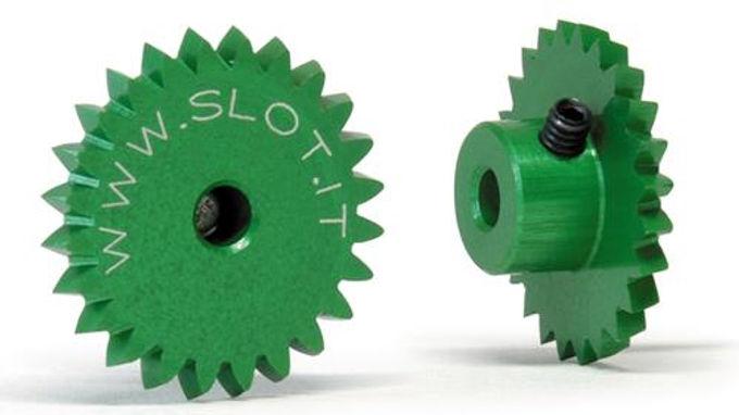 SLOT.IT-GA24LH Flat Crown (Spur Gear) 24 teeth Long Hub for Anglewinder