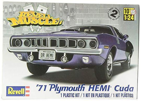 REVELL-12943 1/25 '71 Hemi Cuda Hardtop - Plastic Model Kit