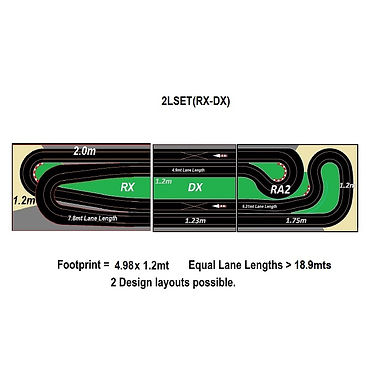 MR TRAX-2LSET(RX-DX) Modular Track system - 2 Lanes (3 tables)