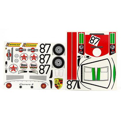 JK 71903ST Classic Decal Sheet - Porsche Carrera 6