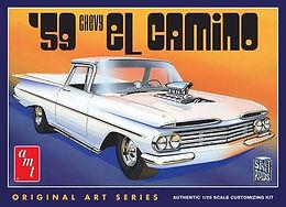 AMT 1058 1959 Chevy El Camino (Original Art Series) Model Kit 1/25