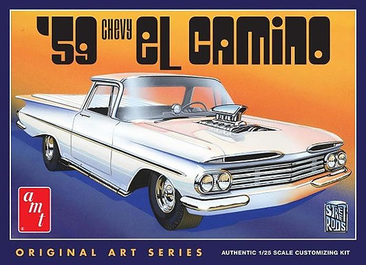 AMT-1058 1959 Chevy El Camino (Original Art Series) Model Kit 1/25