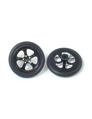 JK-TDF2Bk 5-Spoke 3D Front Drag Wheel, Black (1 pr)