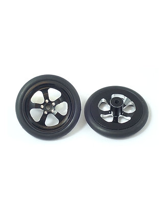 JK T125O  (TDF2Bk) 5-Spoke 3D Rear Drag Wheel, Black (pr)