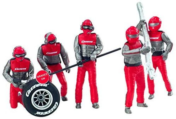 CARRERA-21131 set of 5 figures Mechanics in Red