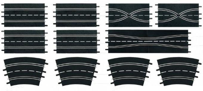 CARRERA-26956 Track Extension Set 3 (12 Pieces)