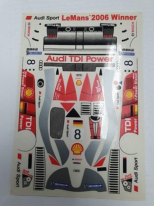 JK 7206ST 1/24 Decal Sheet - Audi TDI R10 #8 LMP