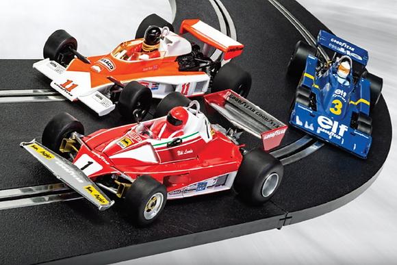 SCALEXTRIC C4189A Future Release McLaren M23 #11 & Ferrari 312T #1 & Tyrrell P34