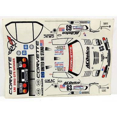 "JK-71131ST 1/24 Decal Sheet - Corvette C5R #63 ""Acdelco"""