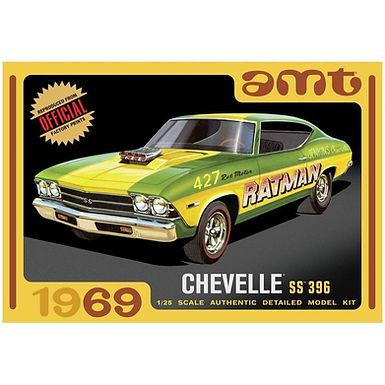 AMT 1138 1969 Chevy Chevelle Hardtop Model Kit 1/25