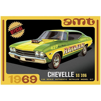 AMT 1138 1969 Chevy Chevelle Hardtop Model Kit 1/25