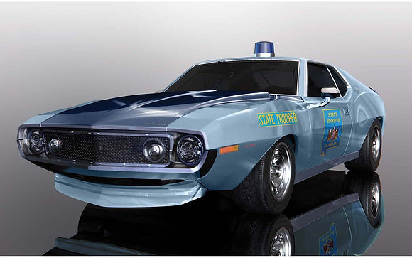 SCALEXTRIC C4058 AMC Javelin - Alabama State Trooper