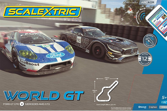 SCALEXTRIC-C1403 Future Release ARC AIR World GT Race Set - FUTURE RELEASE