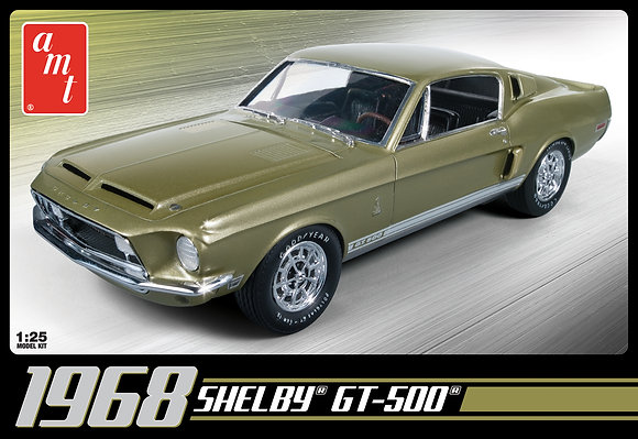 AMT 634 1968 SHELBY GT 500 1:25 SCALE MODEL KIT