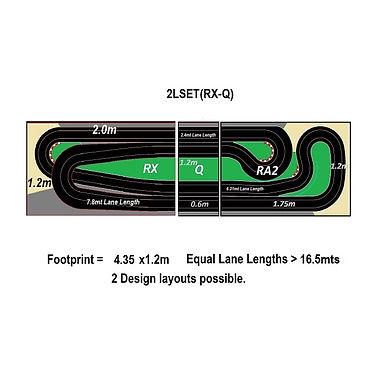 MR TRAX-2LSET(RX-Q) Modular Track system - 2 Lanes (3 tables)