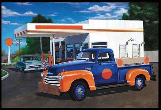 AMT 1076 1950 Chevy 3100 Pickup (Union 76) 1/25 Scale