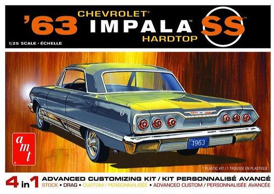 AMT 1149 1963 Chevy Impala SS 2T Model Kit 1/25