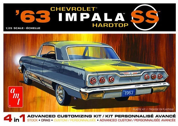 AMT 1149 1963 Chevy Impala SS 2T Model Kit 1/25