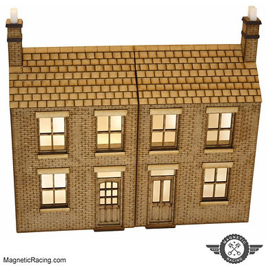 MAGNETIC RACING-024 Terraced House (Ultra) Low Relief 1:32 scale Kit