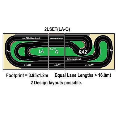 MR TRAX-2LSET(LA-Q) Modular Track system - 2 Lanes (3 tables)