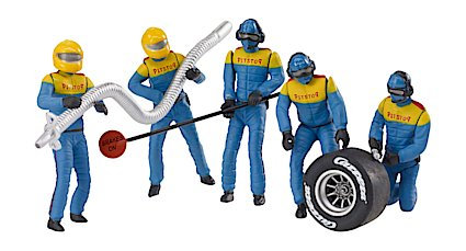 CARRERA 21132 set of 5 figures Mechanics in Blue