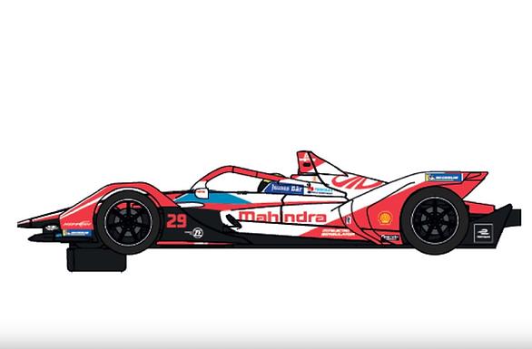 SCALEXTRIC-C4285 Future Release Formula E Mahindra Racing Alexander Sims
