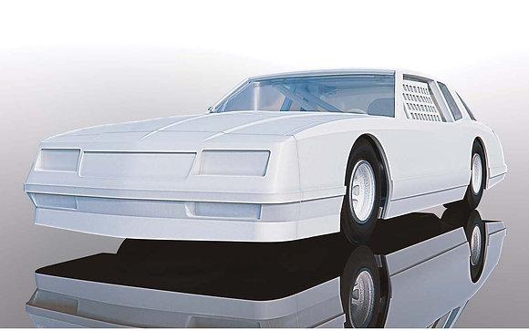 SCALEXTRIC C4072 Chevrolet Monte Carlo 1986 - White