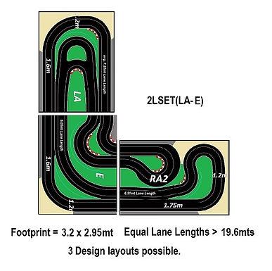 MR TRAX-2LSET(LA-E) Modular Track system - 2 Lanes (3 tables)