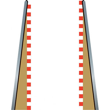 SCALEXTRIC-C8233L Loose Packaged Borders and Barriers Lead In