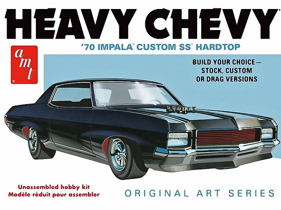 AMT 895 1970 Chevy Impala Heavy Chevy Orig Art Series Model Kit 1/25