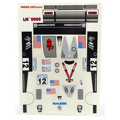 JK 71861ST 1/24 Decal Sheet - Panoz Open Cockpit LMP #12