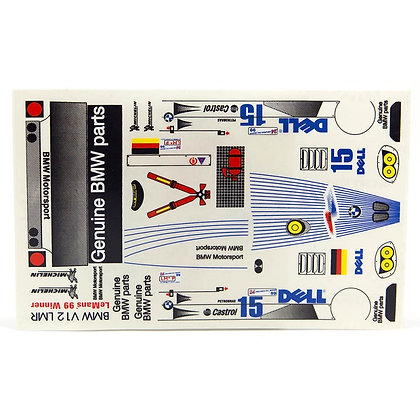JK 7184ST 1/24 Decal Sheet - BMW V12 LMP #42