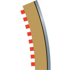 SCALEXTRIC C8224 Borders & Barriers 22.5' R3 Outer
