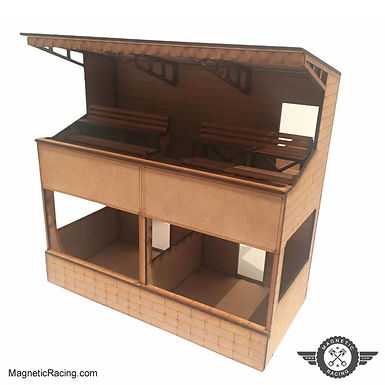 MAGNETIC RACING-005d Two Tier Pit Building