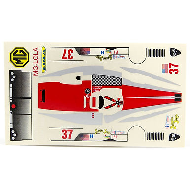JK-71981ST 1/24 Decal Sheet - MG Lola LMP #37