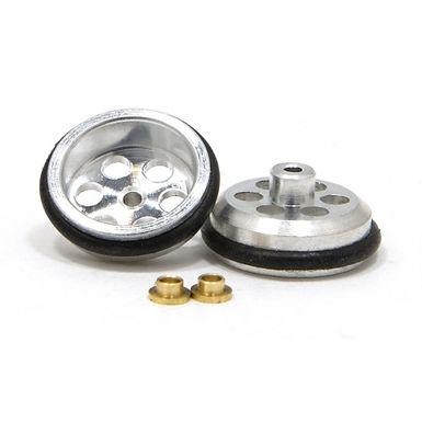 """JK-T126AO (JK87241D) 5/8""""D 1/16"""" Drilled Front Wheels, Aluminum, O-Ring - 1 Pair"""