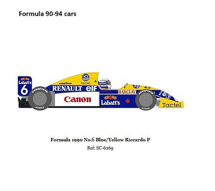 cSCALEAUTO-6269 Future Release Formula 1990 #6 Riccardo Patrese