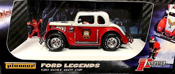 PIONEER P118 Ford Coupe 1934 Hot Rod Legends Santa Red/White