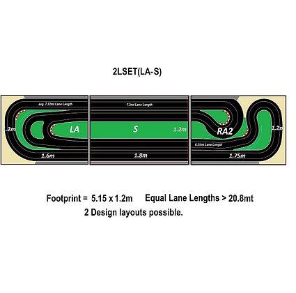 MR TRAX-2LSET(LA-S) Modular Track system - 2 Lanes (3 tables)
