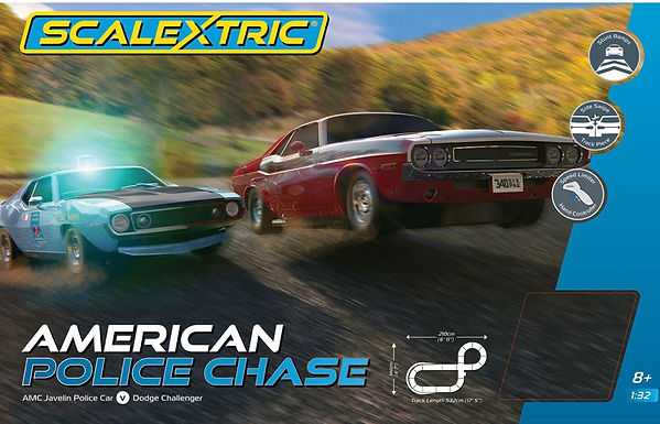 SCALEXTRIC-C1405 Future Release American Police Chase Set