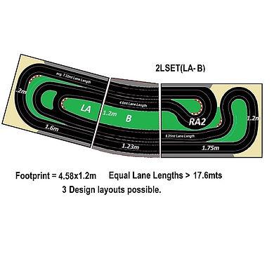 MR TRAX-2LSET(LA-B) Modular Track system - 2 Lanes (3 tables)