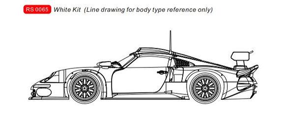 REVOSLOT-0065 Porsche 911 Future Release GT1 White Kit