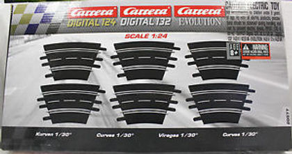 CARRERA 20577 Evo Digital R1 Curve Track 1/30' (6 pieces)